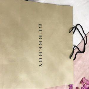 BURBERRY department store bag